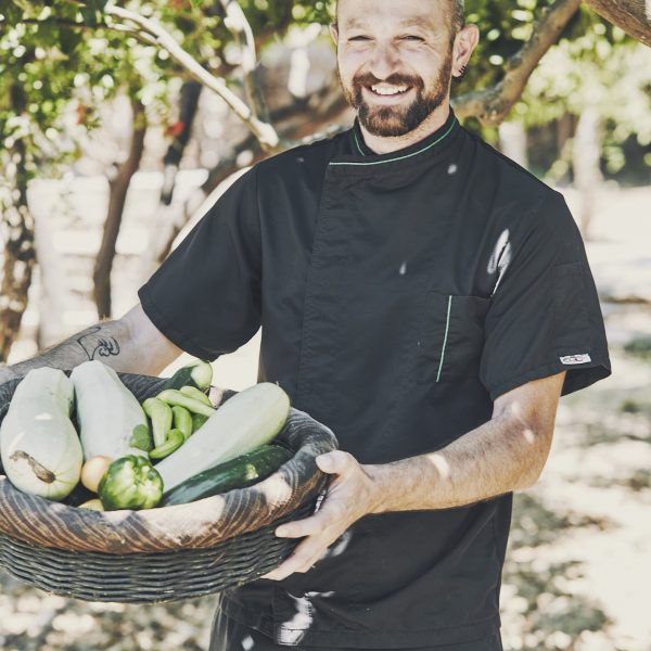 The chef of Yria Island Boutique Hotel & Spa in Paros. All the guests enjoy delicious meals.
